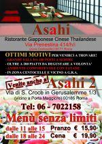 Volantino Ristorante Asahi Roma